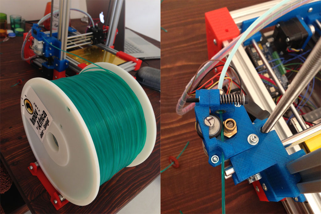 The filament and the filament feeder